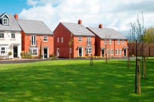 Housing development with greenspace